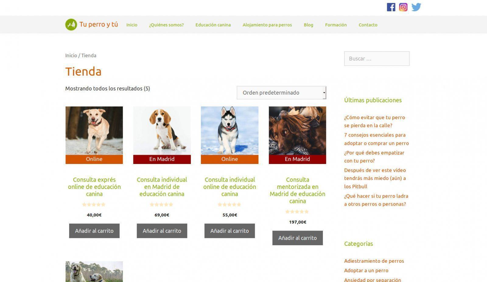 Caso de éxito tienda online Tu perro y tú